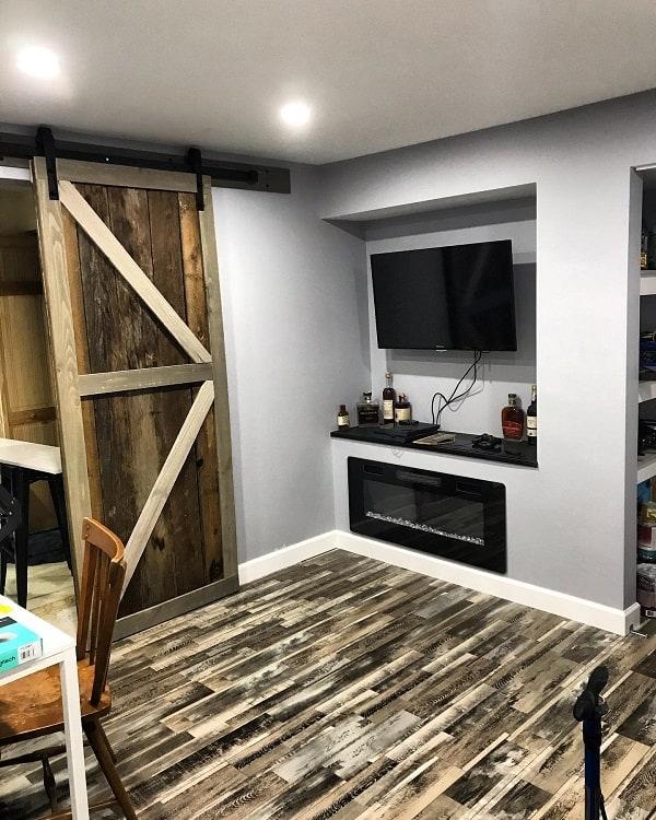 Home Office Rustic Barn Door