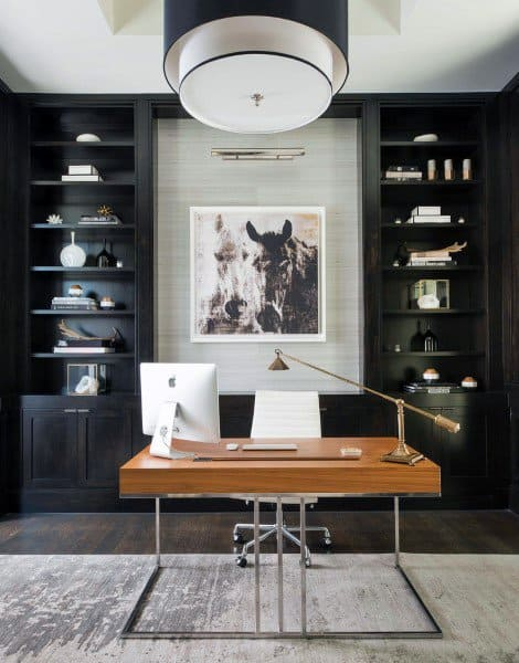 Home Offices Modern Design With Wood Desk