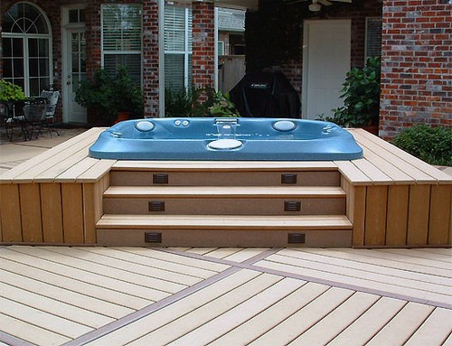 Home Outdoor Hot Tub Deck