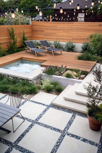 Home Outdoor Modern Designs Hot Tub Deck