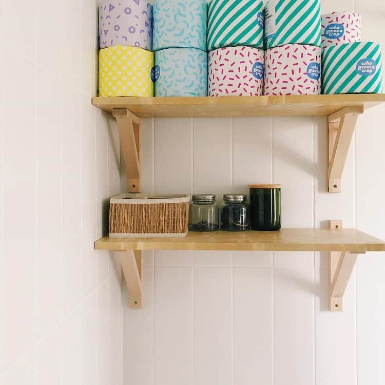Home Storage Bathroom Shelf Brackets Thetidyapartment