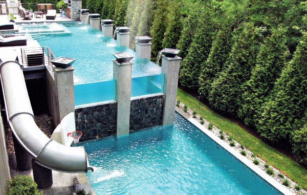 Home Swimming Pool Backyard Waterslide Design