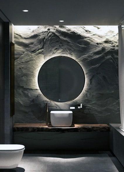 Home Textured Wall Ideas Rock