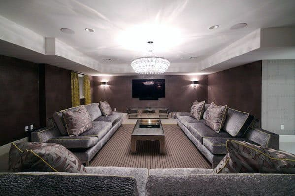 Home Theater Finished Home Basement Ideas