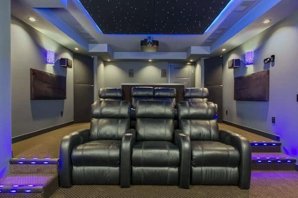 Home Theater Lighting Cool Interior Ideas Star Ceiling