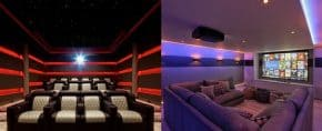 Top 40 Best Home Theater Lighting Ideas – Illuminated Ceilings and Walls
