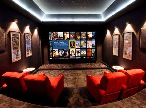 Home Theater Lighting Ideas Inspiration Trey Ceiling Leds White