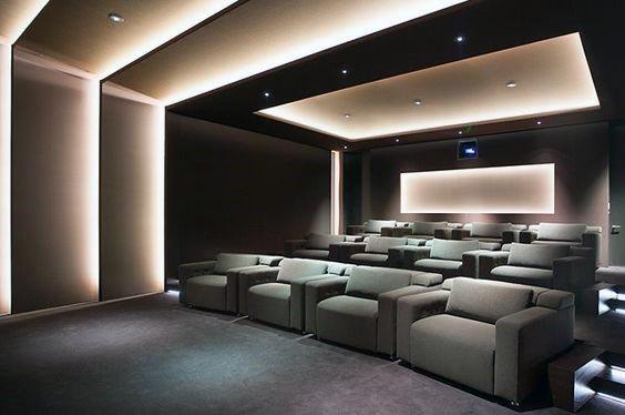 Top 40 Best Home Theater Lighting Ideas