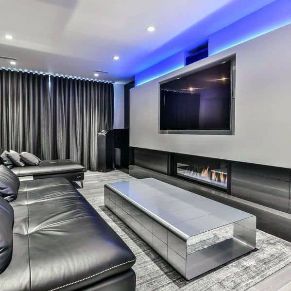 Home Theater Luxury Linear Fireplace