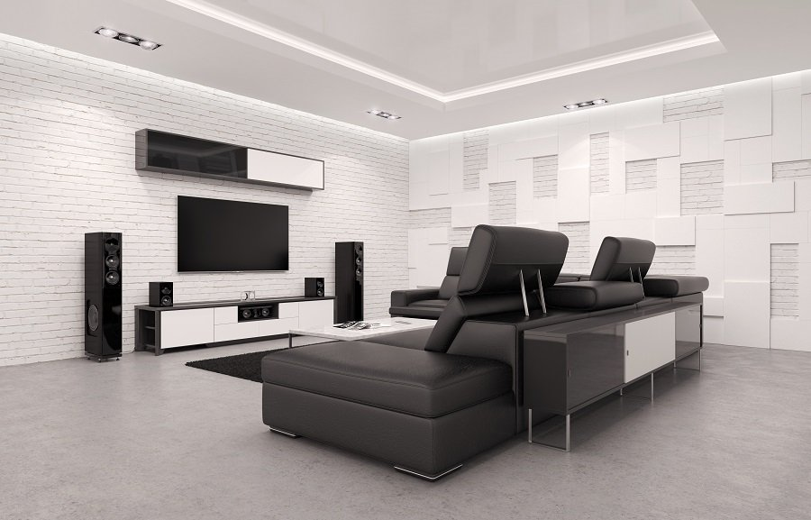 Stunning Interior Home Theater Seating Designs