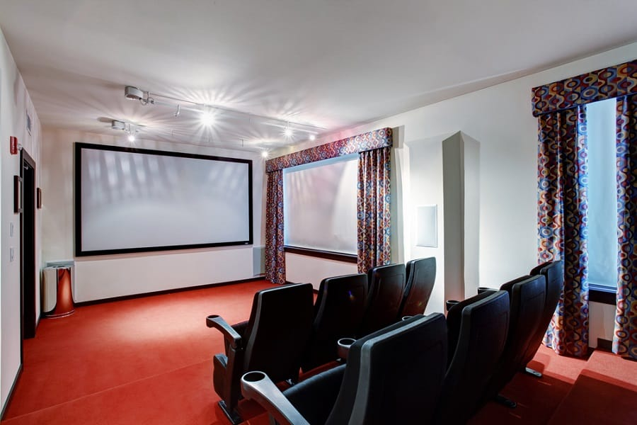 Traditional Red Home Theater Seating