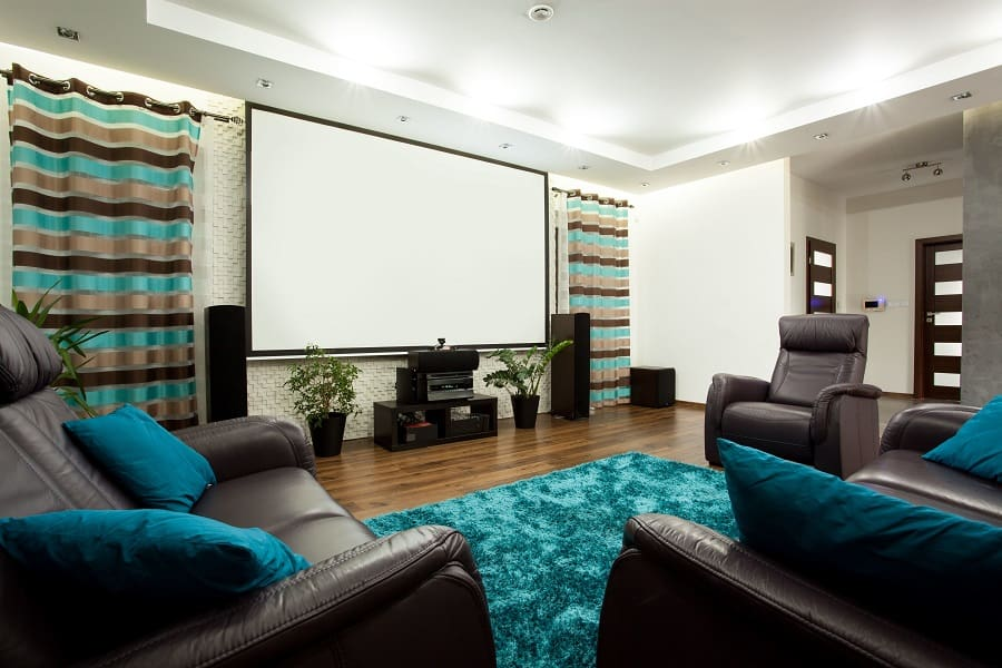 Unique Black Home Theater Seating