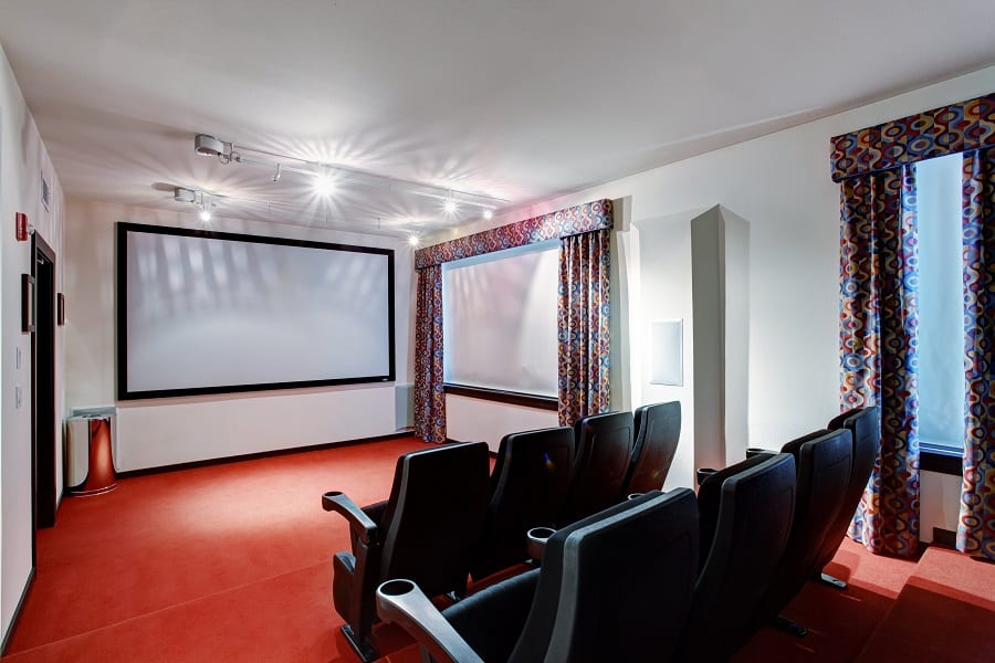 theaters throughout living room home design new | Top 70 Best Home Theater Seating Ideas - Movie Room Designs