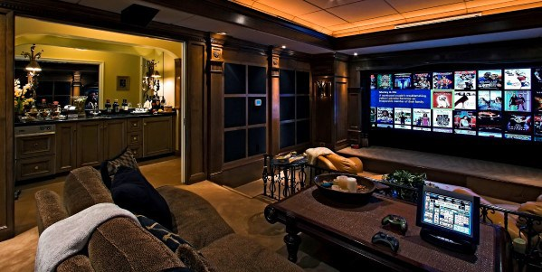 Home Theatre Basement Awesome Man Caves