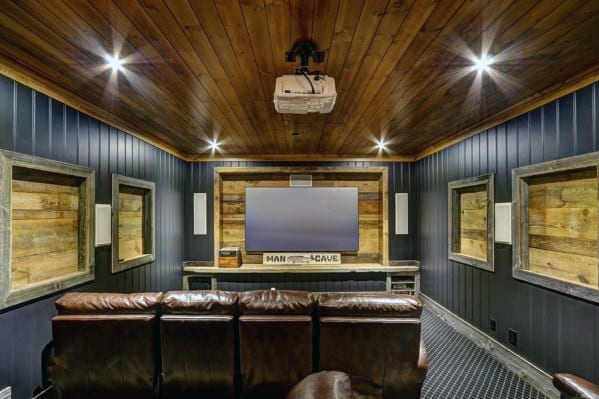 Home Theatre Cool Man Cave Ideas