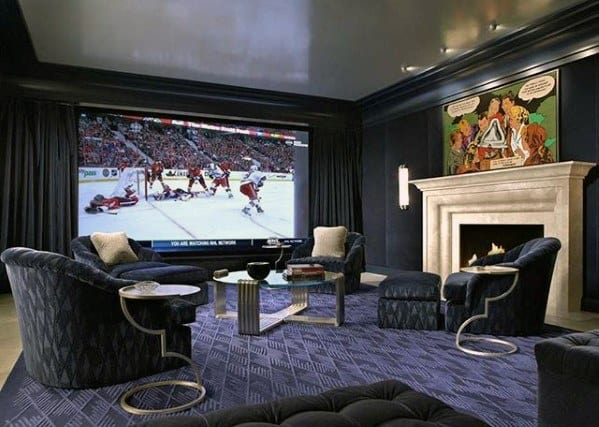Home Theatre Room Guys Basement Man Cave Designs