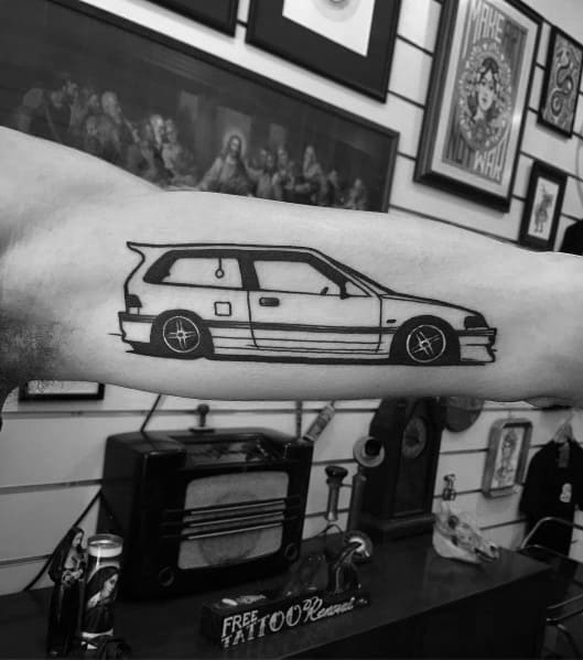 Honda Tattoo Design Ideas For Men