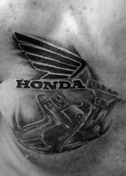 40 Honda Tattoo Ideas For Men Automotive Designs