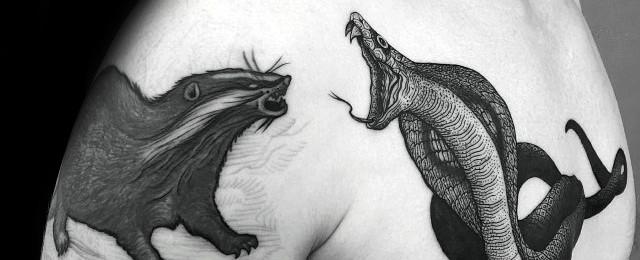 Honey Badger Tattoo Designs For Men