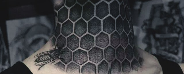 80 Honeycomb Tattoo Designs For Men – Cool Hexagon Ink Ideas