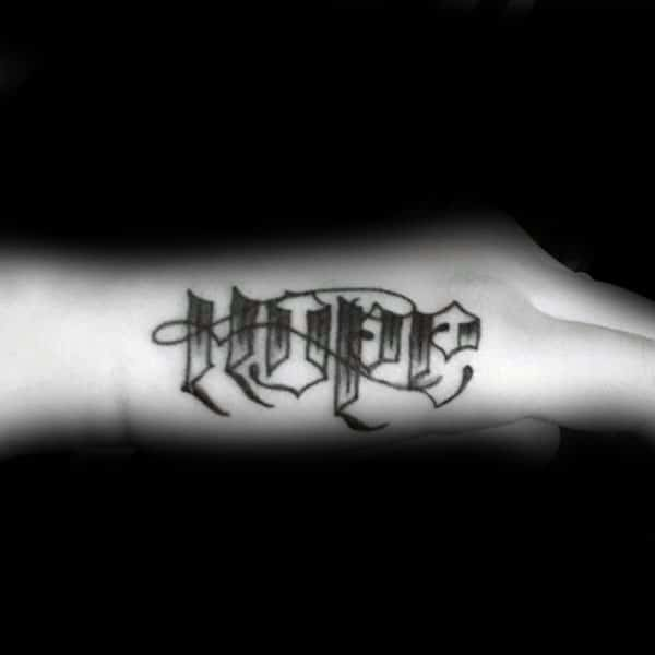 Hope Old School Guys Side Of Hand Tattoo Ideas