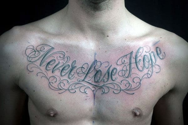 Hope Quote Tattoos For Men