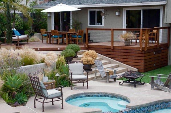 Horizontal Slat Wood Boards Modern Deck Skirting Home Designs