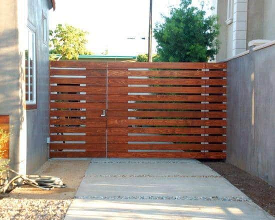 Horizontal Slats Impressive Wooden Gate Ideas