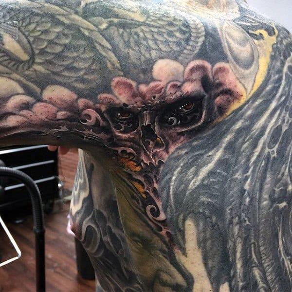 Horrifying Ghost Tattoo Male Armpits
