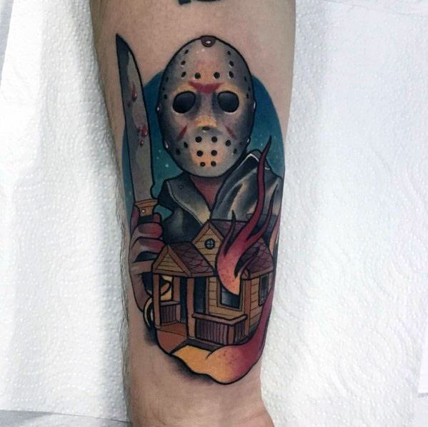 Horror Movie Tattoo For Males