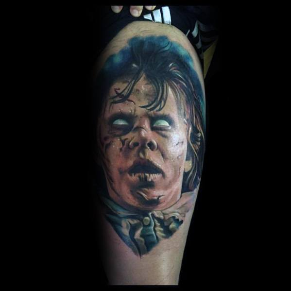 Horror Movie Tattoo On Man