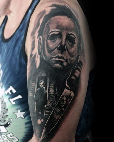 Horror Movie Themed Tattoo Ideas For Men