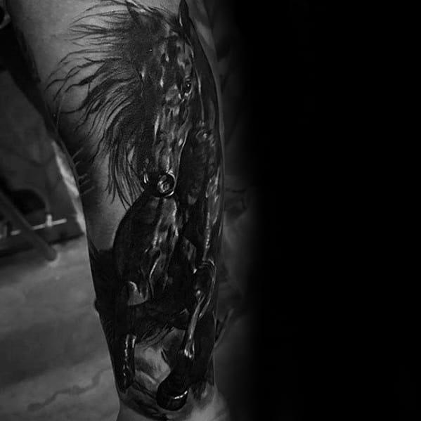 Horse Male Tattoo Designs