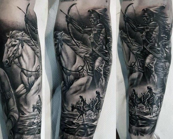 Horse Mens Tattoo Designs