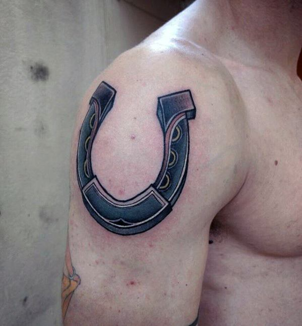 Horseshoe tattoo designs for men