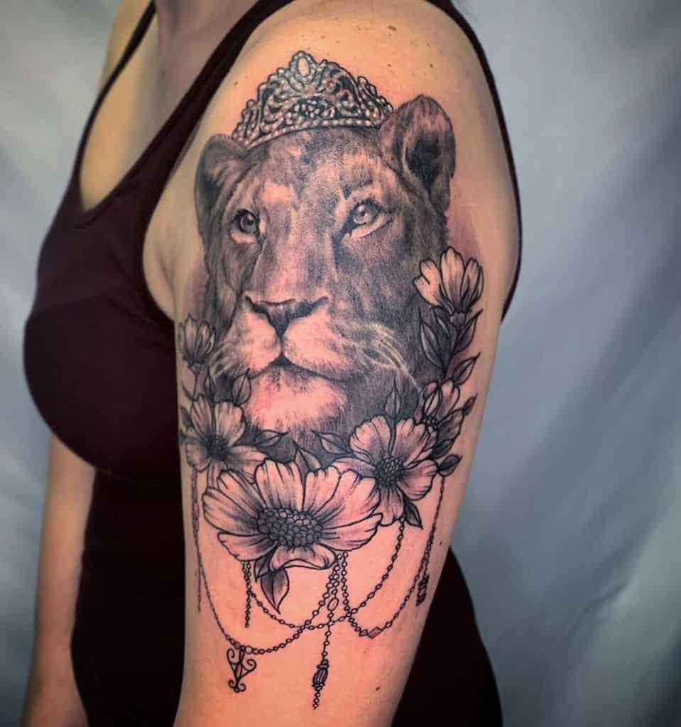 Hot Ink Lion Portrait Tattoo