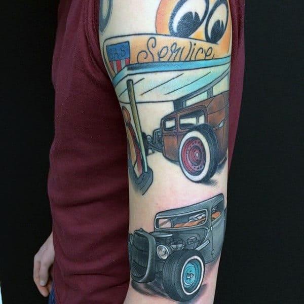 70 Hot Rod Tattoo Designs For Men