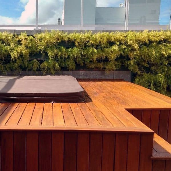 Hot Tub Deck Backyard Design