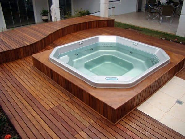 Hot Tub Deck Backyard Ideas - Top 80 Best Hot Tub Deck Ideas - Relaxing Backyard Designs