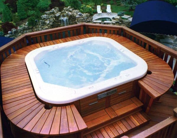 Hot Tub Deck Cool Backyard Ideas