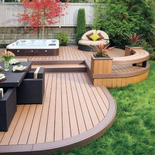 Hot Tub Deck Cool Exterior Ideas