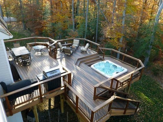 Hot Tub Deck Exterior Design