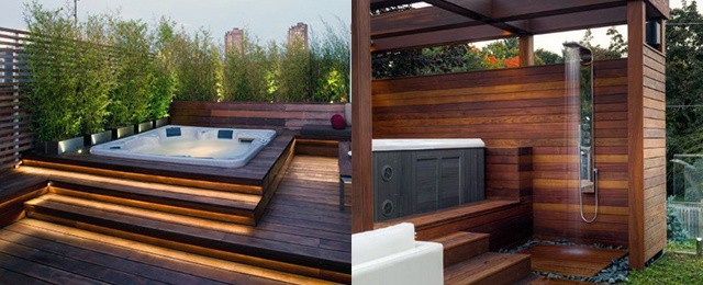 Top 80 Best Hot Tub Deck Ideas – Relaxing Backyard Designs