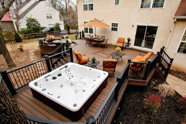 Hot Tub Deck Outdoor Ideas