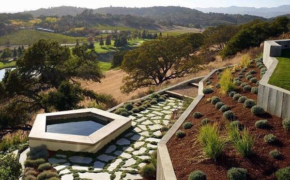 Hot Tub Design Ideas For Slope Landscaping