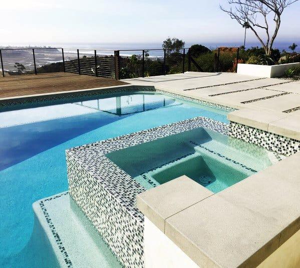 Hot Tub Swimming Pool Mosaic Tile Interior Design