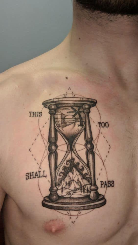 Hour Glass This Too Shall Pass Tattoo