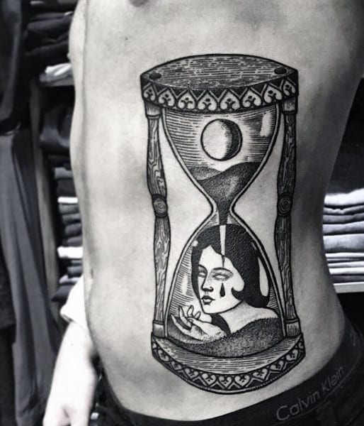 Hourglass Tattoo Ideas For Men