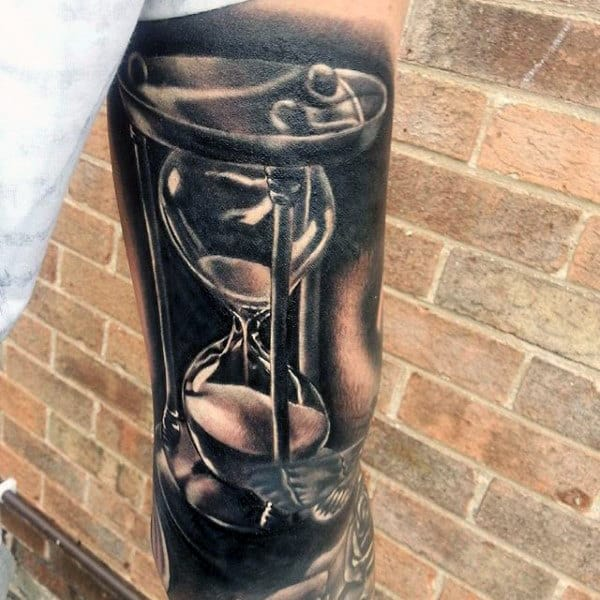 Hourglass Tattoos Designs For Guys
