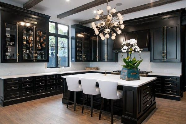 House Black Kitchen Cabinet Ideas